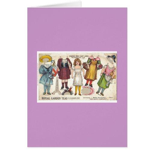 Tea Dolls Greeting Card