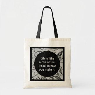 tea drinkers inspiration tote bag