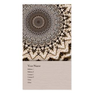 Tea Dyed Mandala Business Card