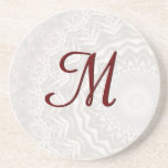 Tea Dyed Mandala Monogram Coaster