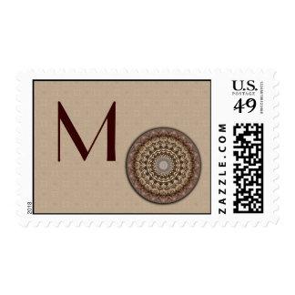 Tea Dyed Mandala Monogram Postage