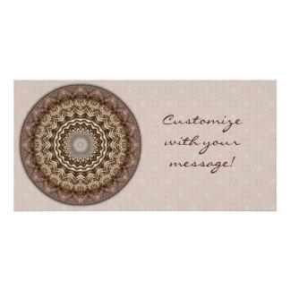 Tea Dyed Mandala Photo Card