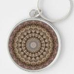 Tea Dyed Mandala Premium Keychain