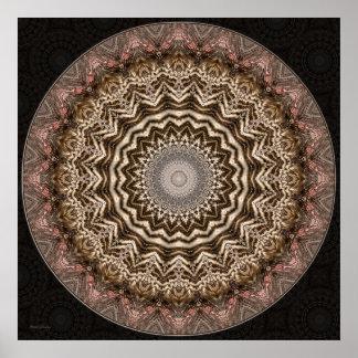 Tea Dyed Mandala • Print