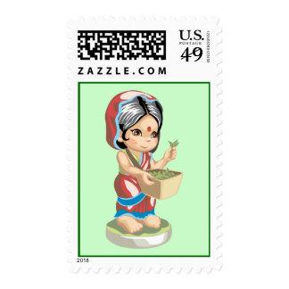 Tea Farmer Stamp