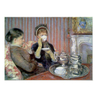 Tea Fine Art by Mary Cassatt Print