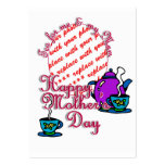 Tea For Me & My Mom - Happy Mother's Day Large Business Cards (Pack Of 100)