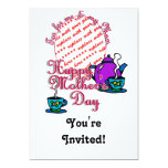 Tea For Me & My Mom - Happy Mother's Day 5x7 Paper Invitation Card