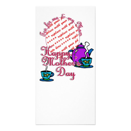 Tea For Me & My Mom - Happy Mother's Day Custom Photo Card