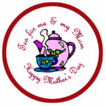 Tea For Me & My Mom - Happy Mother's Day Photo Cutouts