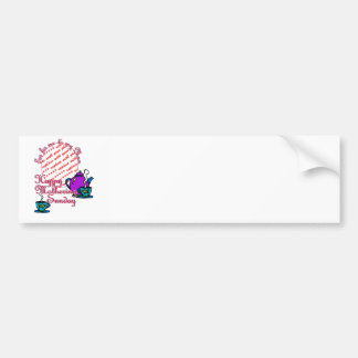 Tea For Me & My Mum - Happy Mothering Sunday Car Bumper Sticker