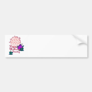 Tea For Me & My Mummy - Happy Mothering Sunday Car Bumper Sticker
