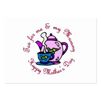 Tea For Me & My Mummy on Mother's Day Large Business Cards (Pack Of 100)