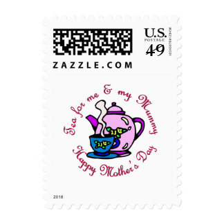 Tea For Me & My Mummy on Mother's Day Stamp