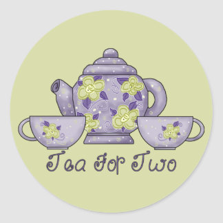 Tea For Two Classic Round Sticker