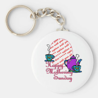 Tea For Two - Happy Mothering Sunday Photo Frame Keychains