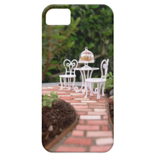 Tea for Two in the Mini Fairy Garden, iPhone Case iPhone 5 Cover