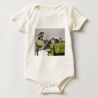 Tea for Two Party Vintage Victorian KItty Cat Girl Baby Bodysuit