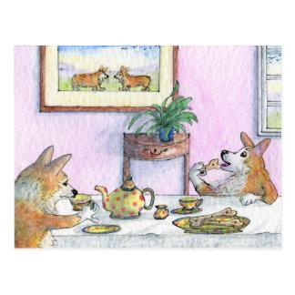 Tea for two postcard