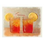 Tea for Two Southern Style Mason Jars of Sweet Tea Postcard
