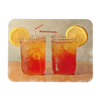 Tea for Two Southern Style Mason Jars of Sweet Tea Rectangular Photo Magnet