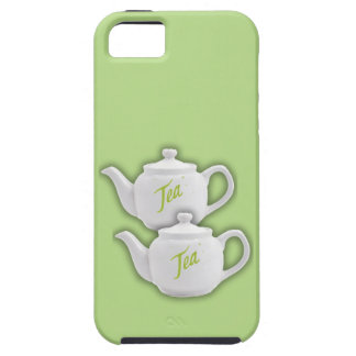 Tea for Two w/ White Teapots iPhone 5/5s Case