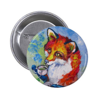 Tea Fox Pin
