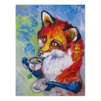 Tea Fox Post Card