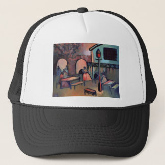 TEA GARDENS AT DUSK TRUCKER HAT