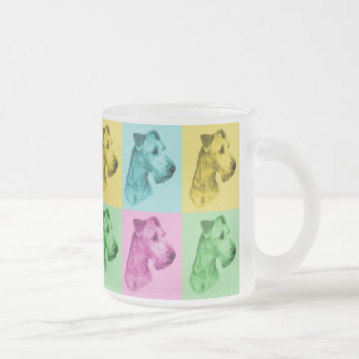 "Tea glass Irish Terrier ""pop kind "" Frosted Glass Coffee Mug"