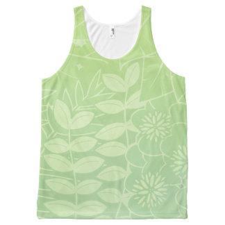 Tea-Green Tropical Foliage Unisex Tank