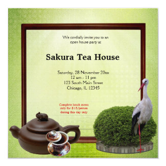 Tea House Grand Opening Card