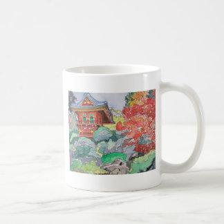 Tea House in San Francisco Watercolor Painting Classic White Coffee Mug