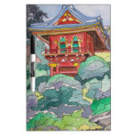 Tea House in San Francisco Watercolor Painting Dry-Erase Whiteboard