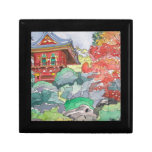 Tea House in San Francisco Watercolor Painting Gift Box