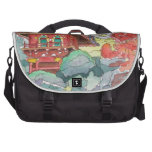 Tea House in San Francisco Watercolor Painting Bag For Laptop