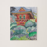 Tea House in San Francisco Watercolor Painting Puzzles
