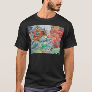 Tea House in San Francisco Watercolor Painting T-Shirt