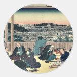 Tea house Shokintei at Yushima by Ando,Hiroshige Sticker