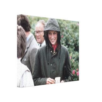 Tea! HRH Princess Diana Scotland Gallery Wrapped Canvas