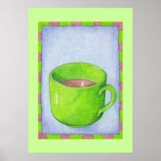 Tea in Green Poster
