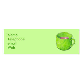 Tea in Green Profile Card Business Cards
