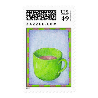 Tea in Green Stamp