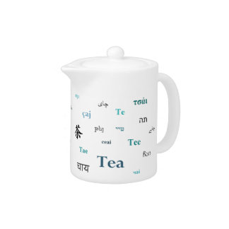 Tea in other languages teapot - Turquoise / Teal