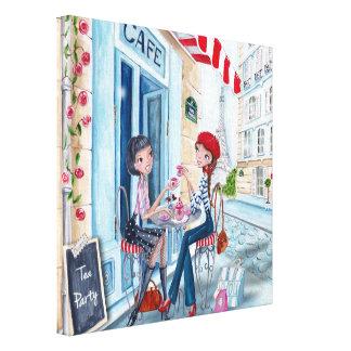 Tea in Paris - Canvas