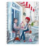 Tea in Paris Spiral Note Book
