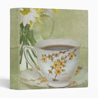 Tea In Texture 3 Ring Binder
