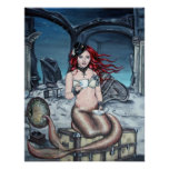 Tea in the Parlour steampunk mermaid poster
