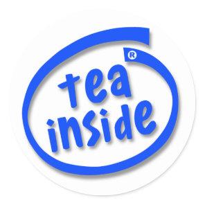 Tea Inside Classic Round Sticker