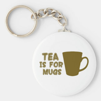 Tea is for mugs basic round button keychain